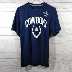 🎉 Nike dri fit NFL team apparel Cowboys t-shirt
